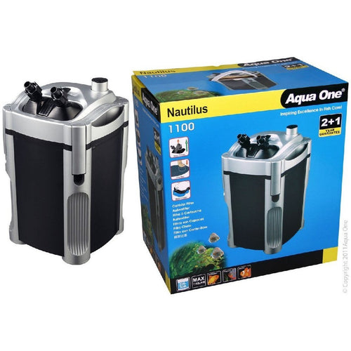AQUA ONE 1100 NAUTILUS CANISTER FILTER 1100 L/HR - City Country Pets and Supplies
