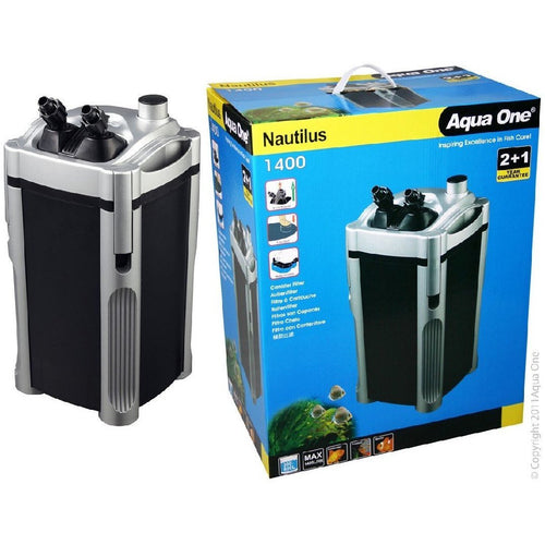 AQUA ONE 1400 NAUTILUS CANISTER FILTER 1400 L/HR - City Country Pets and Supplies