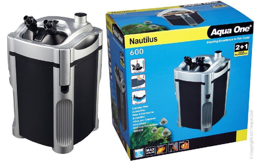 AQUA ONE 600 NAUTILUS CANISTER FILTER 600 L/HR - City Country Pets and Supplies