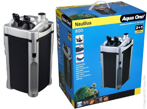 AQUA ONE 800 NAUTILUS CANISTER FILTER 800 L/HR - City Country Pets and Supplies