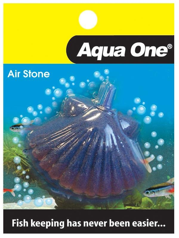 AQUA ONE AIR STONE SHAPED SHELL FISH 5.5X5.5CM (MEDIUM) - City Country Pets and Supplies