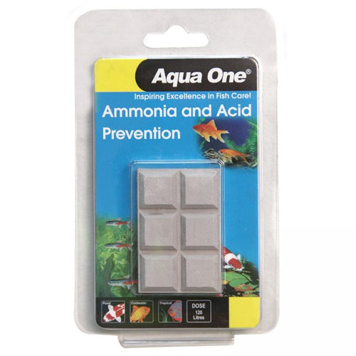 AQUA ONE AMMONIA AND ACID PREVENTION BLOCK 20G - City Country Pets and Supplies