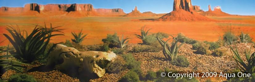 AQUA ONE BACKGROUND 48CM X 1M DESERT YELLOW LAND (AQUA/REPTILE) - City Country Pets and Supplies