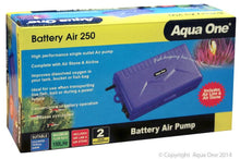 Load image into Gallery viewer, AQUA ONE BATTERY AIR 250 PORTABLE AIR PUMP 150L/HR - City Country Pets and Supplies