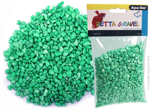 AQUA ONE BETTA GRAVEL METALLIC GREEN 350G - City Country Pets and Supplies