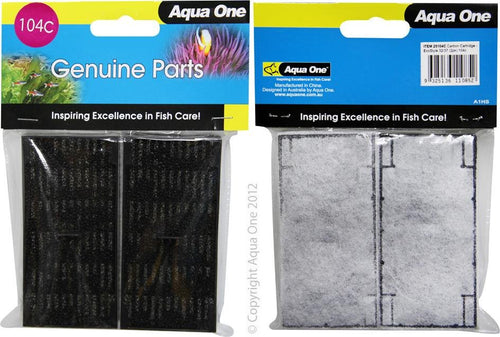 AQUA ONE CARBON CARTRIDGE 104C 2PK (FOR ECOSTYLE 32/37) 25104C - City Country Pets and Supplies