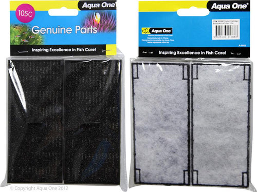 AQUA ONE CARBON CARTRIDGE 105C 2PK (FOR ECOSTYLE 42/47) 25105C - City Country Pets and Supplies