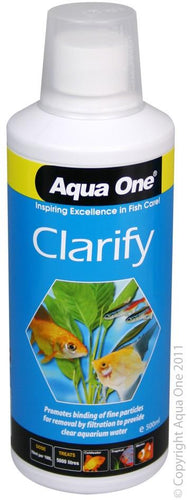 AQUA ONE CLARIFY MICROSCOPIC WATER CLARIFIER 500ML - City Country Pets and Supplies