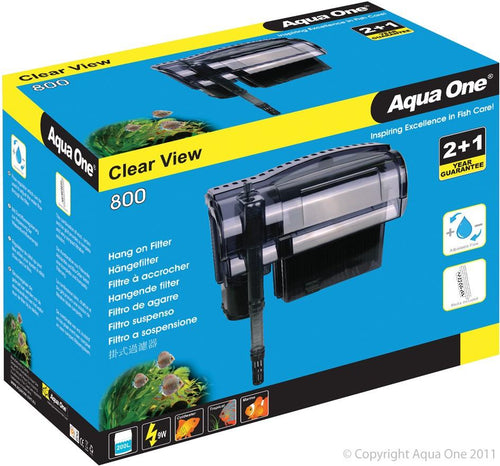 AQUA ONE CLEARVIEW 800 HANG ON FILTER 800 L/HR - City Country Pets and Supplies