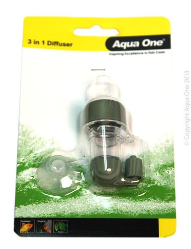 AQUA ONE CO2 3 IN 1 CERAMIC DIFFUSER WITH BUBBLE COUNTER - City Country Pets and Supplies