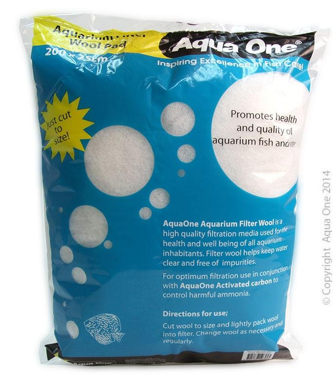 AQUA ONE COARSE FILTER WOOL 200X25CM BAG - City Country Pets and Supplies