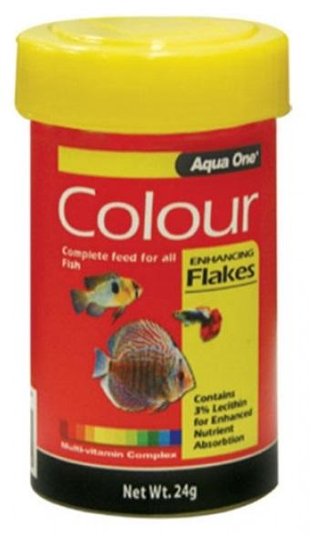 AQUA ONE COLOUR ENHANCING FLAKE 24G - City Country Pets and Supplies