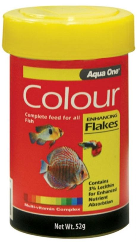 AQUA ONE COLOUR ENHANCING FLAKE 52G - City Country Pets and Supplies
