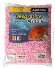Load image into Gallery viewer, AQUA ONE DECORATIVE AQUARIUM GRAVEL METALLIC PINK 2KG - City Country Pets and Supplies