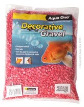 Load image into Gallery viewer, AQUA ONE DECORATIVE AQUARIUM GRAVEL METALLIC RED 2KG - City Country Pets and Supplies