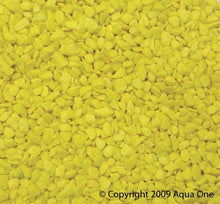 Load image into Gallery viewer, AQUA ONE DECORATIVE GRAVEL FLURO YELLOW 1KG (7MM) - City Country Pets and Supplies