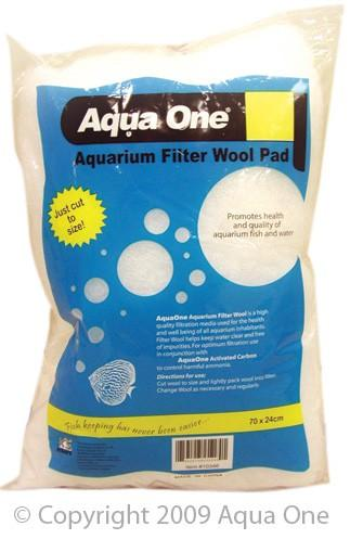 AQUA ONE FILTER WOOL COARSE 70X24CM BAG - City Country Pets and Supplies