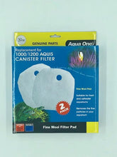 Load image into Gallery viewer, AQUA ONE FINE WOOL FILTER PAD 39W 2PK (FOR AQUIS 1000/1200) 25039W - City Country Pets and Supplies