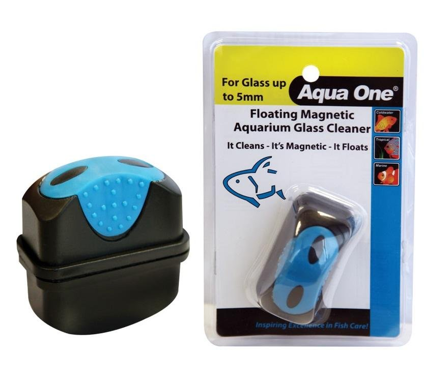 AQUA ONE FLOATING MAGNETIC GLASS CLEANER (FOR GLASS UP TO 5MM) - City Country Pets and Supplies