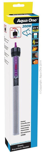 AQUA ONE GLASS HEATER 200W 27.5CM - City Country Pets and Supplies