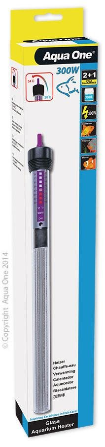 AQUA ONE GLASS HEATER 300W 33CM - City Country Pets and Supplies