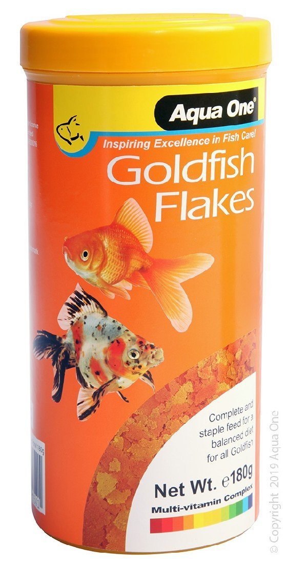 AQUA ONE GOLDFISH FLAKES 180G - City Country Pets and Supplies