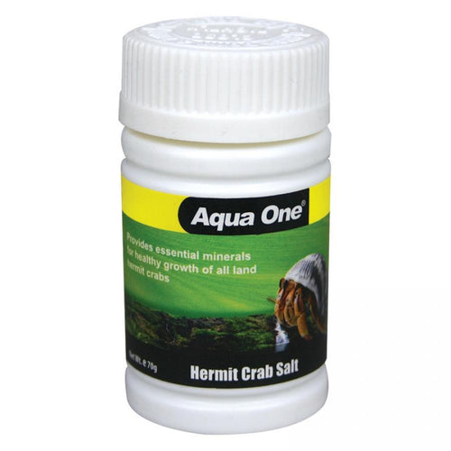 AQUA ONE HERMIT CRAB SALT 70G - City Country Pets and Supplies