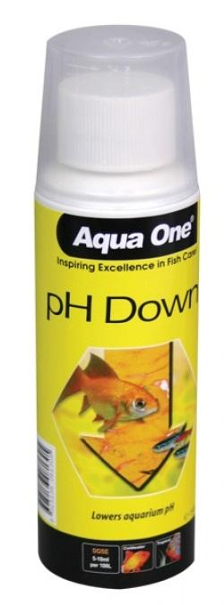AQUA ONE LIQUID PH DOWN 150ML - City Country Pets and Supplies