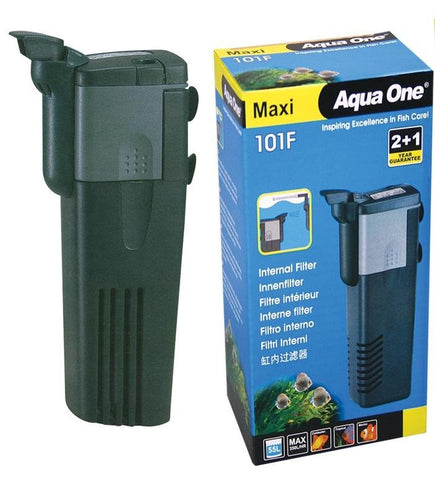 AQUA ONE MAXI 101F INTERNAL FILTER 350L/HR - City Country Pets and Supplies