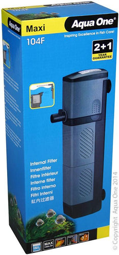 AQUA ONE MAXI 104F INTERNAL FILTER 1480 L/HR - City Country Pets and Supplies