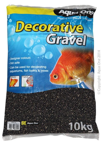 AQUA ONE NATURAL GRAVEL BLACK SILICA 10KG (2-3MM) - City Country Pets and Supplies