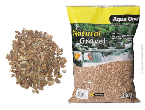AQUA ONE NATURAL GRAVEL LAYERED BROWN 2KG - City Country Pets and Supplies