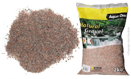 AQUA ONE NATURAL GRAVEL RED SAND 2KG - City Country Pets and Supplies