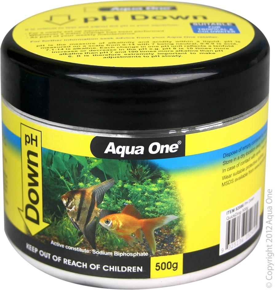 AQUA ONE PH DOWN QUICKDROP 500G - City Country Pets and Supplies