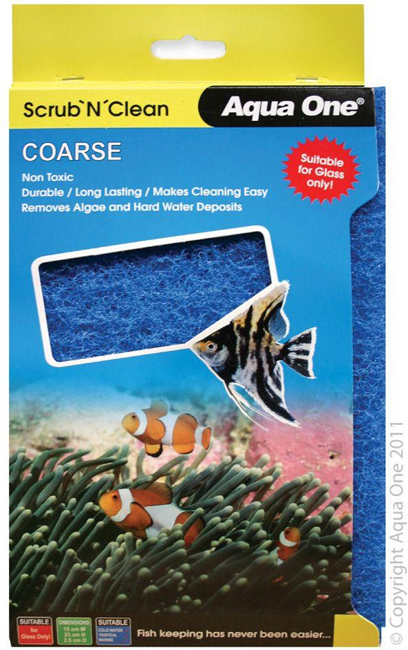 AQUA ONE SCRUB'N'CLEAN COARSE ALGAE PAD LARGE - City Country Pets and Supplies