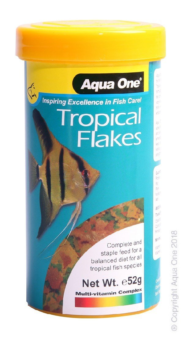 AQUA ONE TROPICAL FLAKES 52G - City Country Pets and Supplies