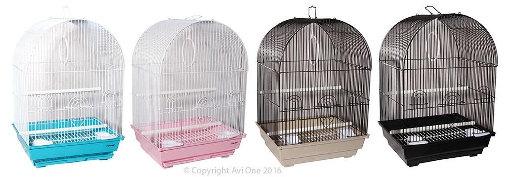 AVI ONE BIRD CAGE 320A ARCH TOP (SINGLE - COLOUR VARIES) - City Country Pets and Supplies