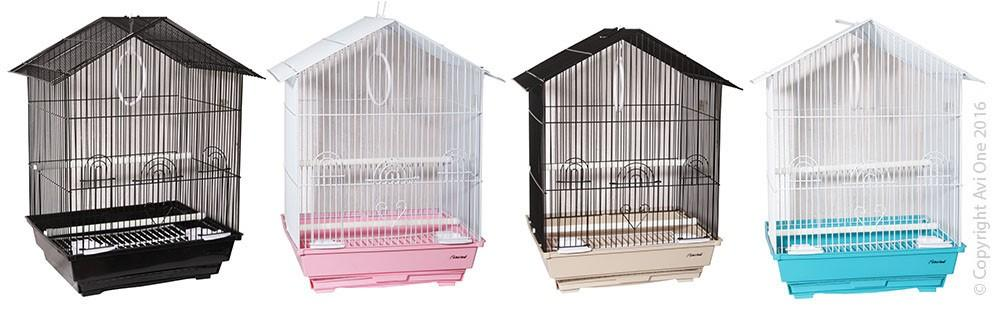AVI ONE BIRD CAGE 320H HOUSE TOP 34X26.5X51CM (SINGLE CAGE) - City Country Pets and Supplies