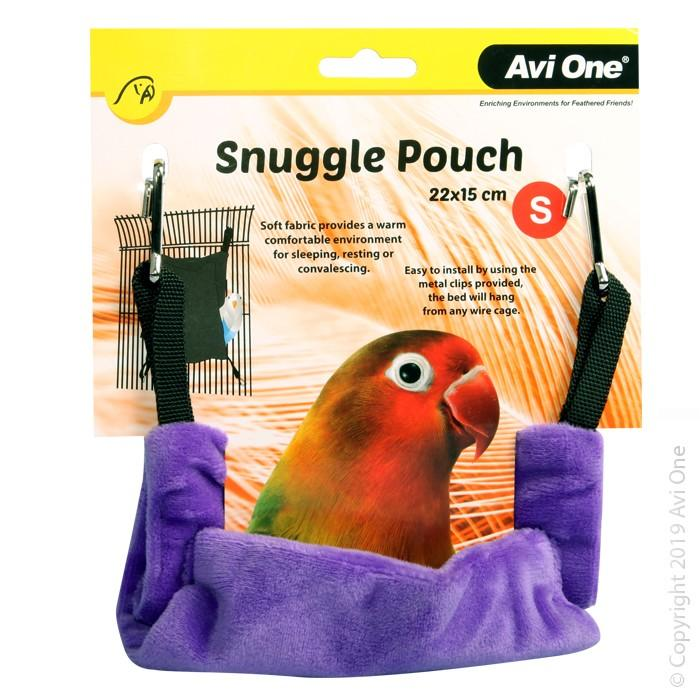 AVI ONE BIRD SNUGGLE POUCH SMALL 22X15CM GRAPE - City Country Pets and Supplies