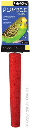 AVI ONE PUMICE PERCH 8IN RED - City Country Pets and Supplies