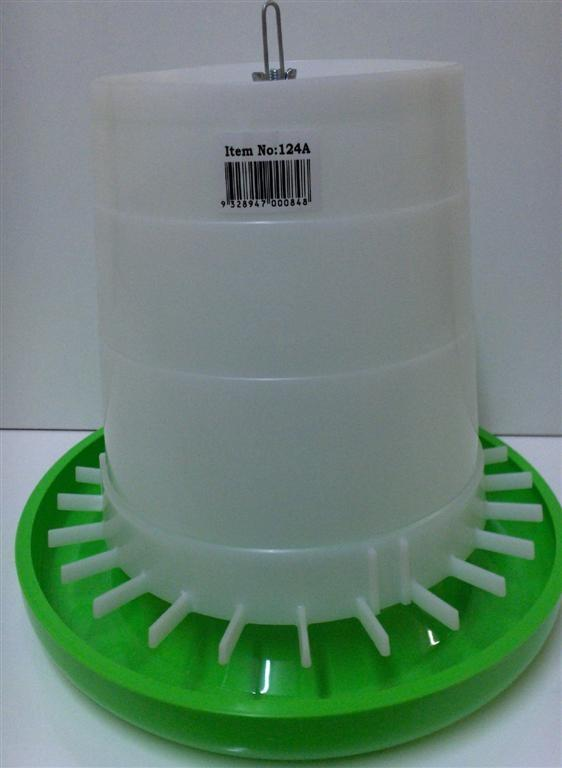AVICO GEAR BOX WHITE GREEN POULTRY FEEDER 5KG B0124 - City Country Pets and Supplies