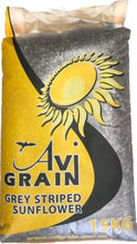 Load image into Gallery viewer, AVIGRAIN GREY STRIPED SUNFLOWER SEEDS 15KG - City Country Pets and Supplies