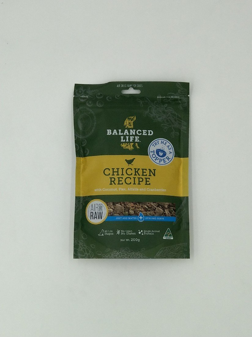 BALANCED LIFE AIR DRIED CHICKEN PREMIUM DOG FOOD 200G - City Country Pets and Supplies