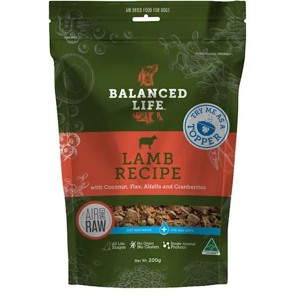 BALANCED LIFE AIR DRIED SALMON PREMIUM DOG FOOD 200G - City Country Pets and Supplies