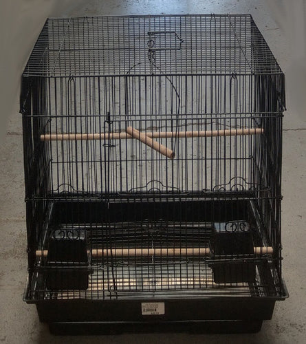 BIRD CAGE BLACK APPROX. 45X35X51.5CMH TSA 5823 - City Country Pets and Supplies