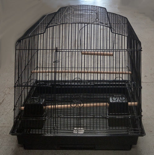 BIRD CAGE BLACK CURVED TOP APPROX. 45X34X55CMH TSA 5803 - City Country Pets and Supplies