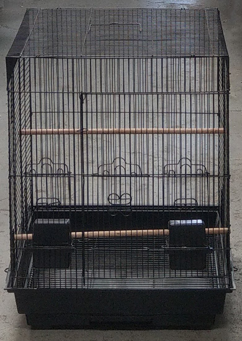 BIRD CAGE BLACK SQUARE APPROX. 44X44X58CMH TSA 5923 - City Country Pets and Supplies