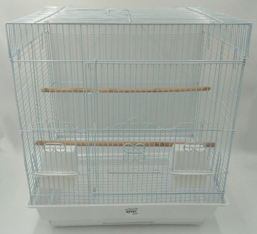 BIRD CAGE WHITE SQUARE TSA 5824 - City Country Pets and Supplies