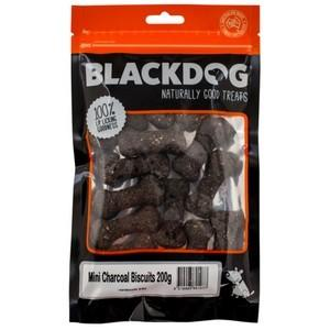 BLACKDOG MINI CHARCOAL BISCUITS DOG TREATS 200G - City Country Pets and Supplies