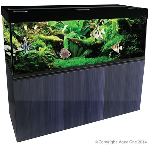 BRILLIANCE 180 RECTANGULAR 580L AQUARIUM SET (BLACK) - City Country Pets and Supplies